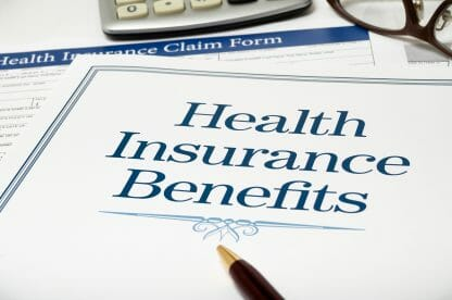 Image of a Page saying Health Insurance Benefits, Long Term Care insurance