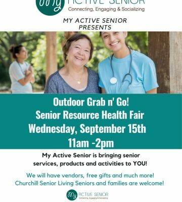 Churchill Senior Living Senior Resource Fair – Convenient Outside Health Fair